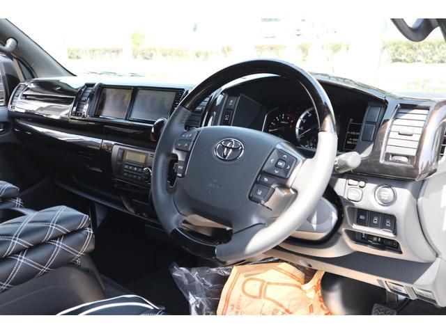 スーパーGL ダークプライムII S-GLワイドIFUUカスタムコンプリートフローリングベットキットバケットシートカバーフルセグナビフリップダウンモニター助手席ツインモニターウッドインテリアLEDテール17inアルミローダウンエアロ(33枚目)