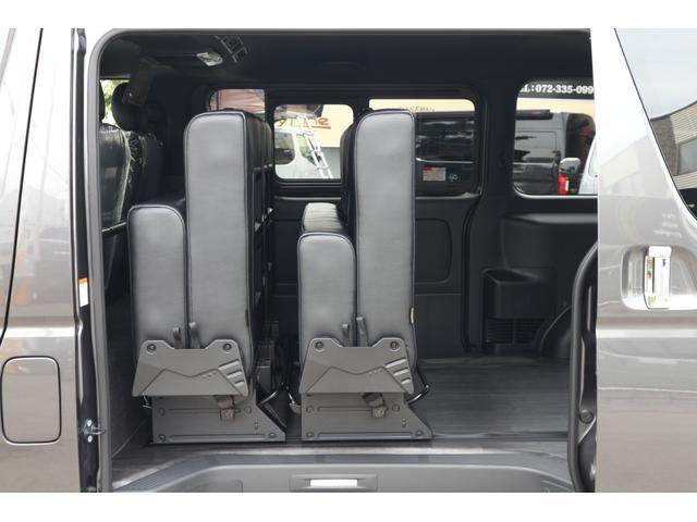 スーパーGL ダークプライムII 2.8D-T2WD3列REVOシート2脚4ナンバー8人フロアフローリングロングスライドレールフルフルラットベット対面ラウンジ展開フルセグナビフリップダウンモニターパノラマモニター車中泊アウトドア仕様(18枚目)