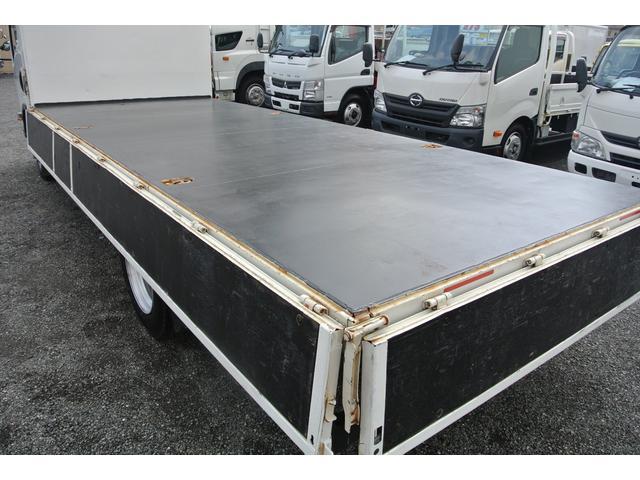 平ボディ 3.5t ワイド超ロング 3方開 荷台床鉄板 AT(18枚目)