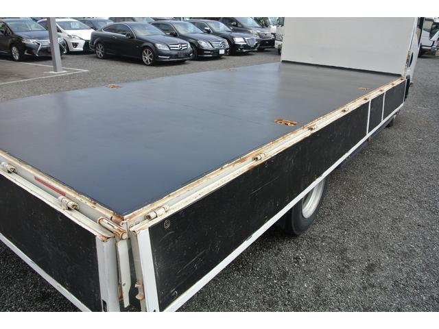 平ボディ 3.5t ワイド超ロング 3方開 荷台床鉄板 AT(19枚目)