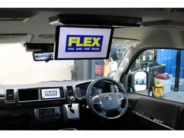 GL パーキングサポート FLEXベッドキットシートアレンジ ダブルモニター フローリング施工 Fスポイラー FLEX17インチAW ナスカータイヤ 1インチローダウン(18枚目)