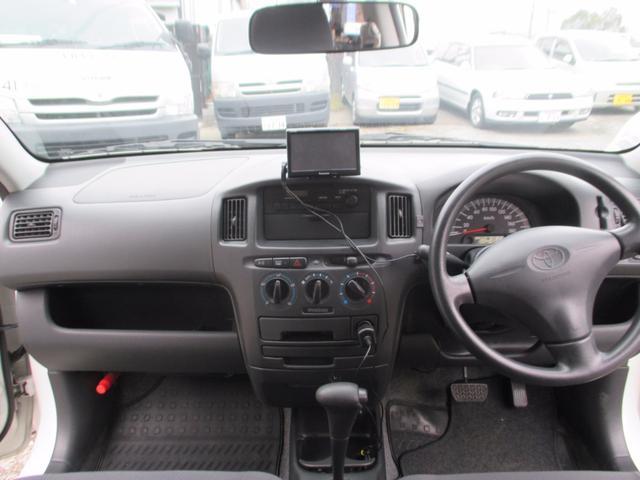 トヨタ プロボックスバン DX 4WD ルーフキャリア ポータブルナビ ワンセグナビ