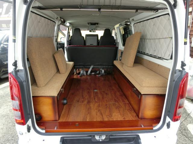 トヨタ ハイエースバン ロングDX GLパッケージ キャンピングFFヒーター ベッド