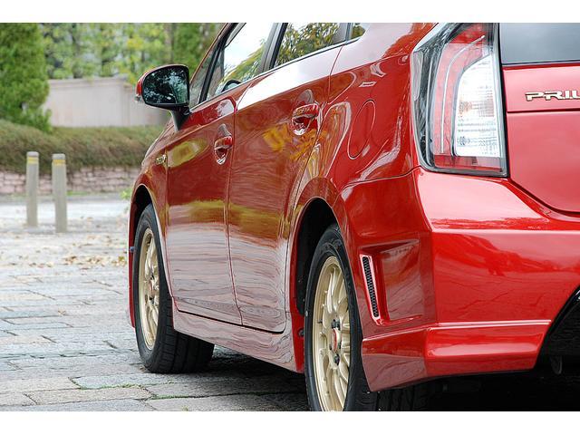 トヨタ プリウス S BBS16AW 社外エアロ トミーカイラRスポイラー