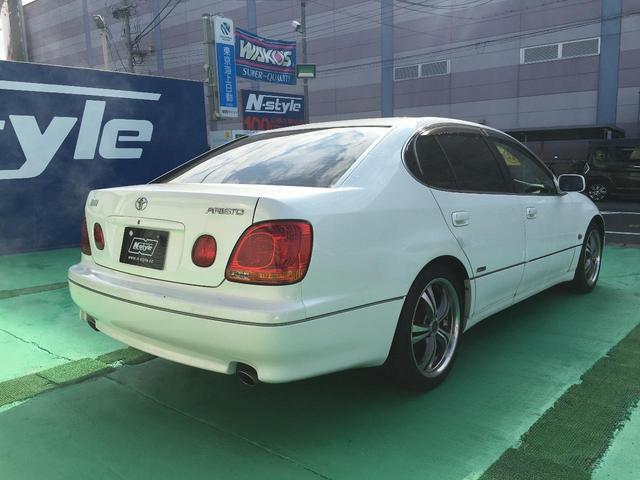 トヨタ アリスト S300ベルテックスエディション 社外18AW ローダウン