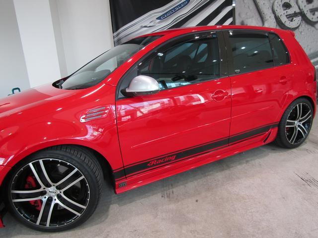 フォルクスワーゲン VW ゴルフ GTI 1オーナー エアロ 18アルミ 外CPU 黒革シート
