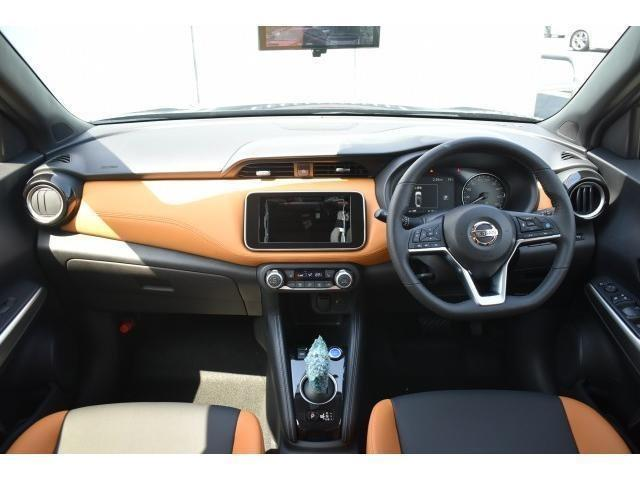 X ツートーンインテリアエディション 登録済未使用車 アラウンドビューモニター インテリルームミラー プロパイロット SOSコール LEDヘッド シートヒーター ハンドルヒーター エマブレ コーナーセンサー 踏み間違い防止 インテリキー(5枚目)