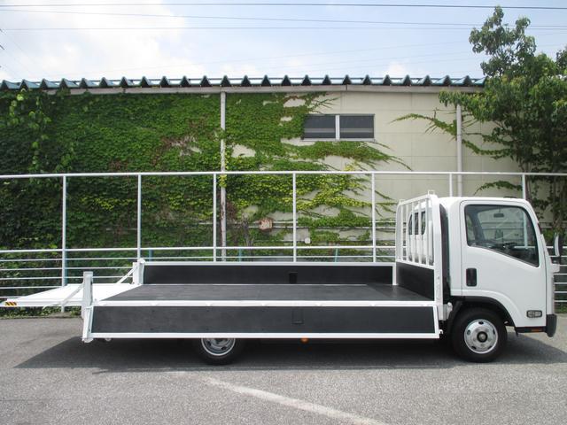 いすゞ エルフトラック 2トン積み ワイドロング 800kg型パワーゲート付平ボディ