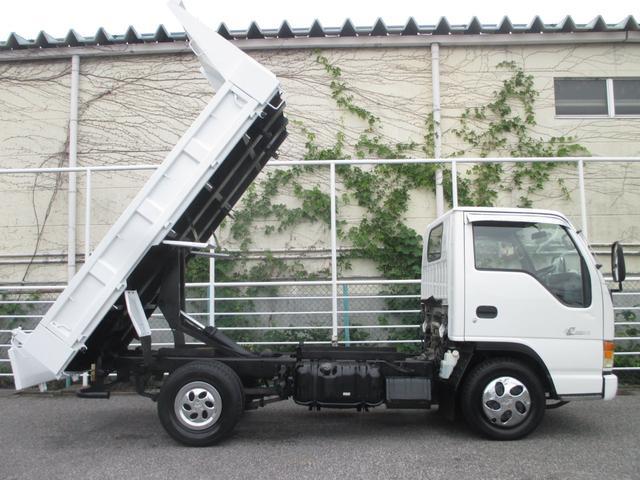 いすゞ エルフトラック 2トン積み4ナンバー フルフラットロー強化ダンプ あゆみ掛け