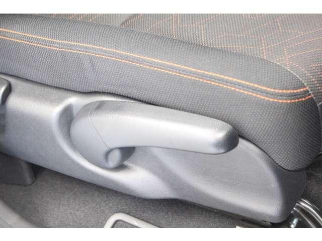 運転席側シートアジャスター シートを座りやすい高さに調節可能ですよ。
