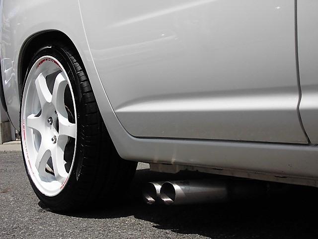 トヨタ プロボックスバン GL チンスポ 外17AW サイド出しマフラー ローダウン