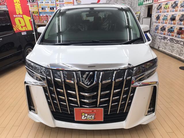 人気の大型ミニバン アルファード 2.5S Cパッケージ 2WD の新車未登録車両が入庫しました♪メーカーオプションでツインムーンルーフ・デジタルインナーミラー・ACコンセント・スペアタイヤ付です☆