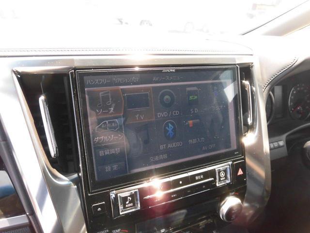 2.5S アルパインSDナビ フルセグ バックカメラ リアフリップダウンモニター リアスモークフィルム シートカバー 純正LEDヘッドライト 両側パワースライドドア 社外品ドライブレコーダー HDMI BT(13枚目)
