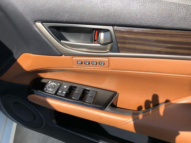 レクサス GS GS450h バージョンL オリジナル後期仕様 チャ革 3眼