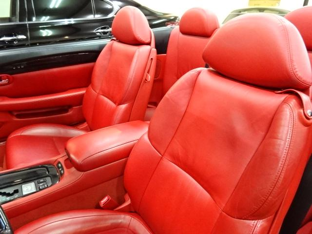 レクサス SC SC430赤革ナビ車高調20AWMレビンソンUS左ハンドル