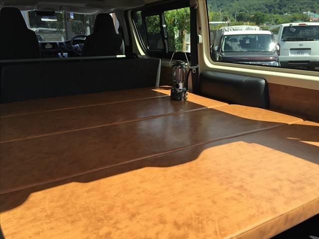ロングDX ハイエース5ドア20車中泊キャンプスタイル 車中泊キャンプベッドリアクーラーヒータ(16枚目)