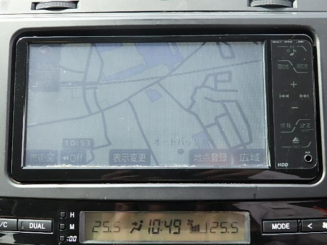 トヨタ マークX 250G Fpkg HDDナビ フルセグ 後期型 1オ-ナ-