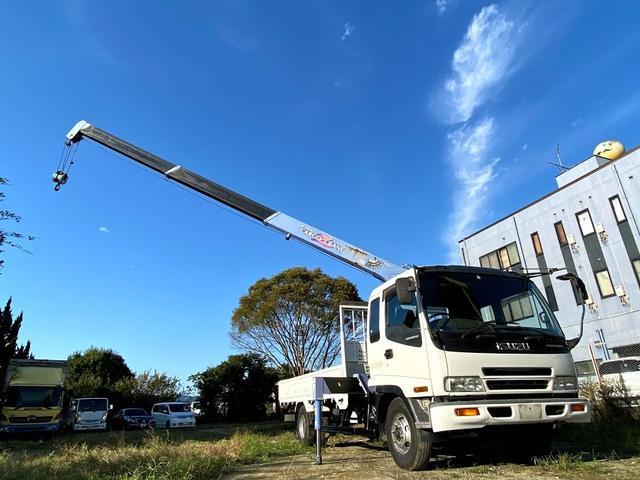 タダノ3段クレーン ベット付き 7.8ターボ 6速マニュアル サスペションシート 荷箱 長4630幅2120 最大積載量2700kg(2枚目)