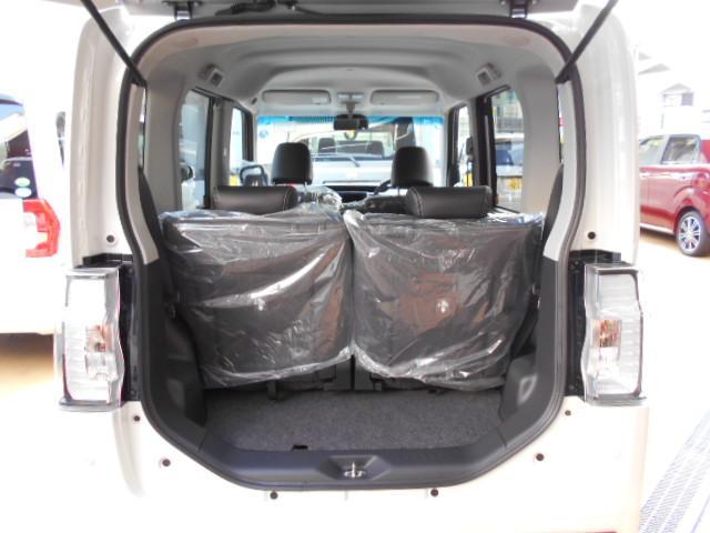 軽自動車の荷室。
