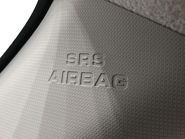 Aピラーに内蔵のSRSエアバッグ付き