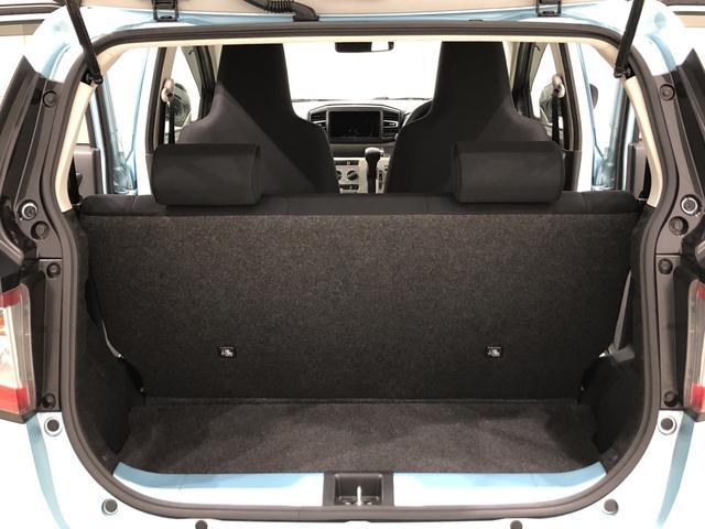 X SAIII LEDヘッドランプ 電動格納式ドアミラー付 バックカメラ オートハイビーム オーディオ操作用ステアリングスイッチ 14インチホイールキャップ 純正ロングバイザー 純正カーペットマット アイドリングストップ フロント・リヤコーナーセンサー ABS(30枚目)