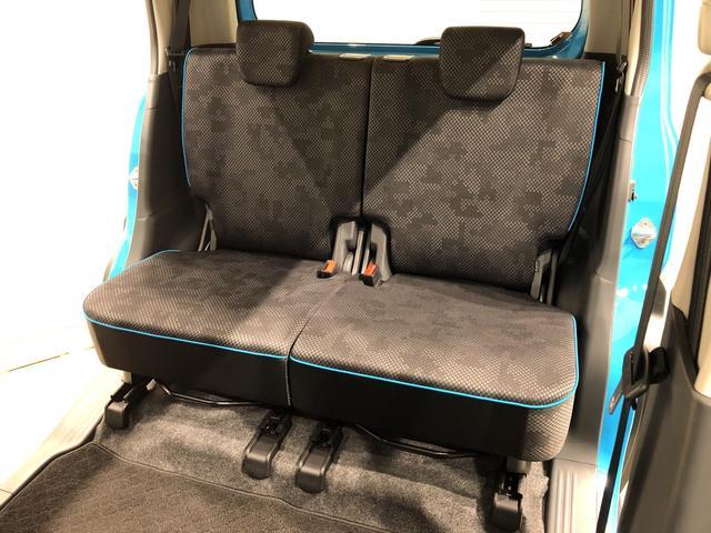 リヤシートは、左右分割スライド、左右分割リクライニングシートです。座席一つ一つにも気配りを♪