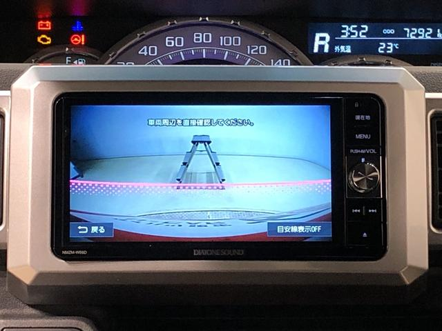 バックカメラが連動しているので後方の安全もモニターを通じて確認できます♪