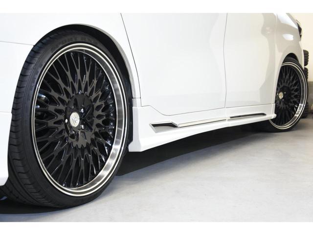 2.5S WALDコンプリートカー 22インチAW TEIN車高調 アルパイン11型ナビ アルパインフリップダウンモニター 両側電動スライドドア(28枚目)