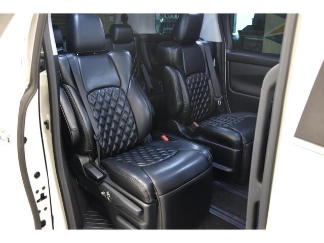 2.5S WALDコンプリートカー 22インチAW TEIN車高調 アルパイン11型ナビ アルパインフリップダウンモニター 両側電動スライドドア(46枚目)