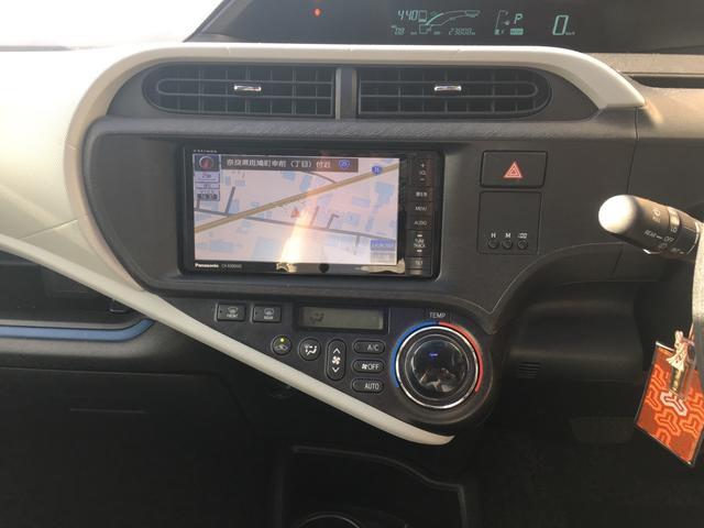 トヨタ アクア S SD録音ナビ ダブルフリップダウンモニター BC ETC