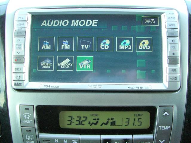 トヨタ アルファードG AS パワスラドア HDDナビTV Rモニター 18アルミ