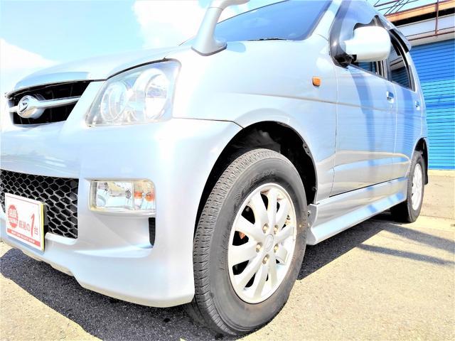 カスタムL ワンオーナー・後期最終型・4WD・ターボ・5速MT・64馬力・ICターボ・ユーザー買取車・純正エアロ・Rスポイラー・大型ドアバイザー・純正アルミ・背面タイヤカバー・CDオーディオ・ETC(10枚目)