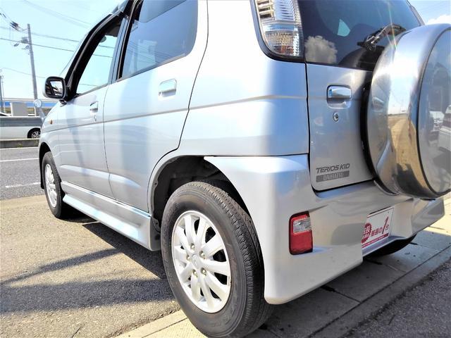 カスタムL ワンオーナー・後期最終型・4WD・ターボ・5速MT・64馬力・ICターボ・ユーザー買取車・純正エアロ・Rスポイラー・大型ドアバイザー・純正アルミ・背面タイヤカバー・CDオーディオ・ETC(15枚目)