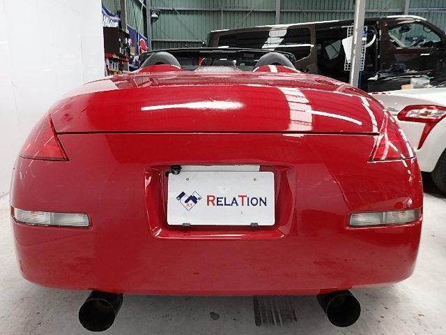 ロードスター20AWエアロラッピング車高調赤クロス幌マフラー(5枚目)