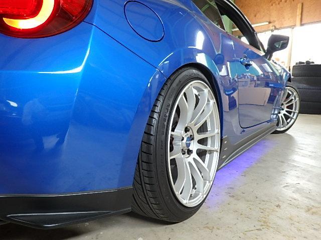スバル BRZ S車高調RAYS18AWレカロシートSTiエアロGTウィング