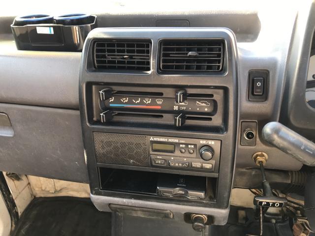 ダンプ 5MT 4WD PTO タイベル交換済 AC PS(9枚目)