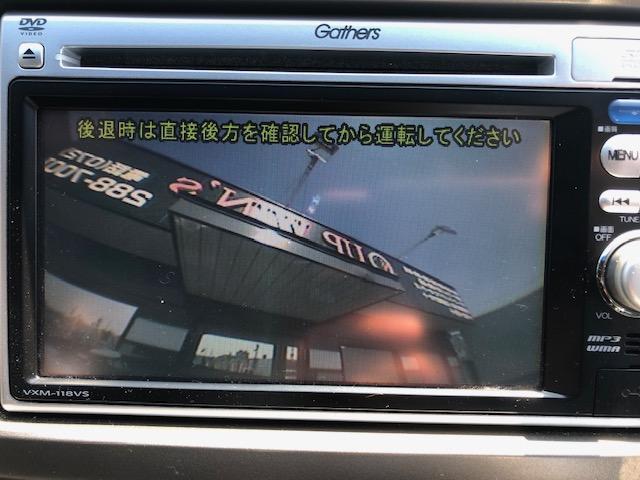 バックカメラで駐車も安心です(^^)