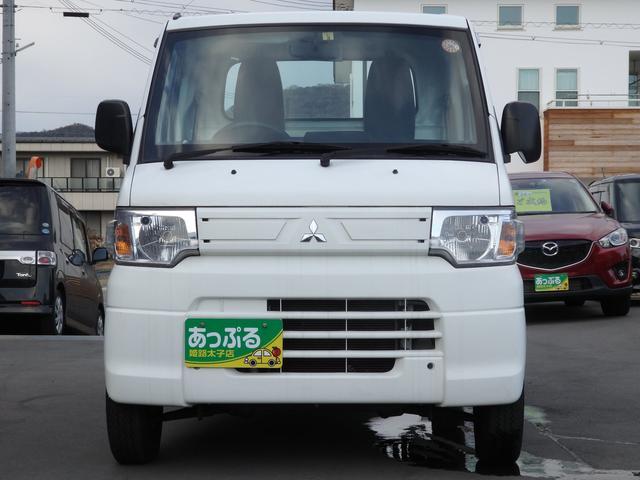 三菱 ミニキャブトラック Vタイプ 社外ナビ 2スピーカー 三方開ゴムガード付き