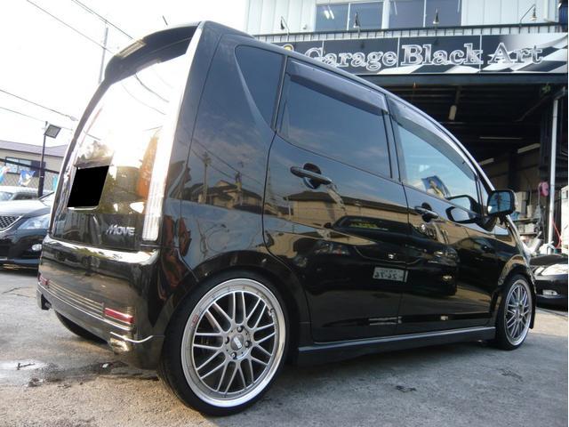 カスタムx 17AW 車高調 HDDナビ 黒革調シートカバー(3枚目)