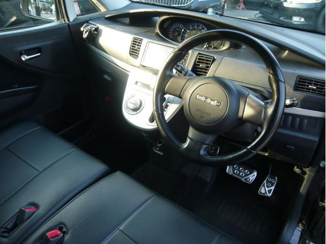 カスタムx 17AW 車高調 HDDナビ 黒革調シートカバー(10枚目)