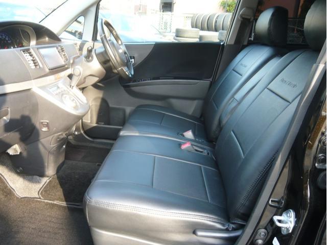 カスタムx 17AW 車高調 HDDナビ 黒革調シートカバー(12枚目)