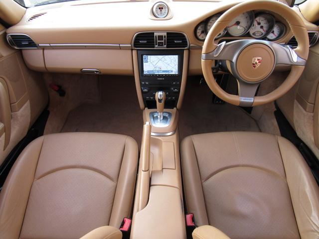 911カレラ4S 右ハンドル 後期 PDK スポーツクロノ H&Rローダウン パワークラフト可変マフラー 991フェイス 純正ナビTV Bカメラ コーティング施工済み(10枚目)