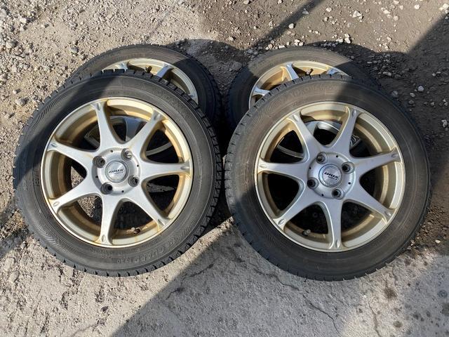 ココアプラスX 4WD スマートキー 純正オーディオ ウィンカーミラー フォグライト オートAC 社外14インチAWスタッドレスタイヤ積み込み(37枚目)