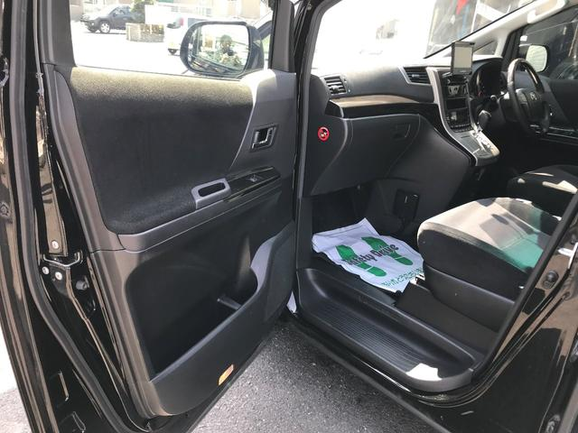トヨタ アルファード 240S後期型  フリップダウンM 新品20AW 新品車高調