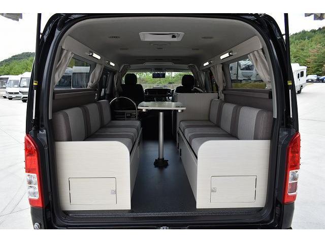 ナッツRV トライアル 4WD ツインサブ FFヒーター 400W、1500Wインバーター マックスファン ソーラーパネル 冷蔵庫 シンク 架装部TV 地デジアンテナ リアヒーター リアクーラー ミラー型モニター(34枚目)
