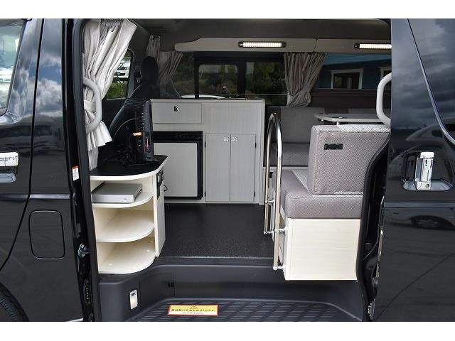 ナッツRV トライアル 4WD ツインサブ FFヒーター 400W、1500Wインバーター マックスファン ソーラーパネル 冷蔵庫 シンク 架装部TV 地デジアンテナ リアヒーター リアクーラー ミラー型モニター(35枚目)
