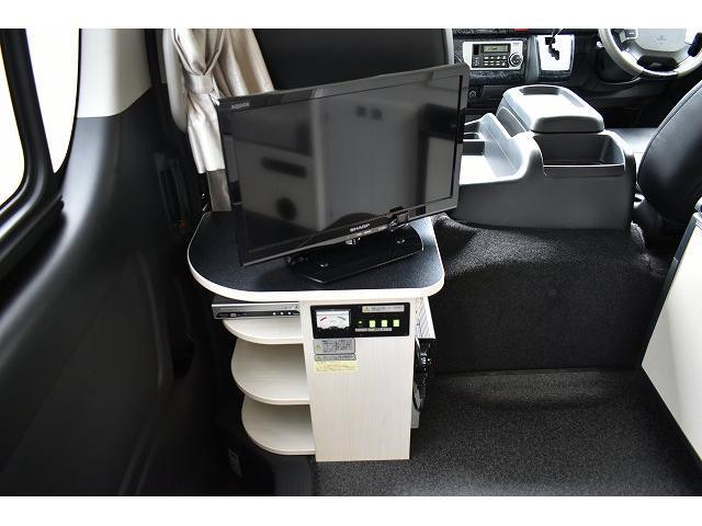 ナッツRV トライアル 4WD ツインサブ FFヒーター 400W、1500Wインバーター マックスファン ソーラーパネル 冷蔵庫 シンク 架装部TV 地デジアンテナ リアヒーター リアクーラー ミラー型モニター(41枚目)