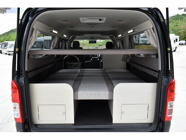 ナッツRV トライアル 4WD ツインサブ FFヒーター 400W、1500Wインバーター マックスファン ソーラーパネル 冷蔵庫 シンク 架装部TV 地デジアンテナ リアヒーター リアクーラー ミラー型モニター(51枚目)
