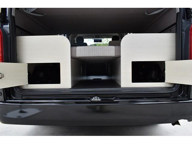 ナッツRV トライアル 4WD ツインサブ FFヒーター 400W、1500Wインバーター マックスファン ソーラーパネル 冷蔵庫 シンク 架装部TV 地デジアンテナ リアヒーター リアクーラー ミラー型モニター(54枚目)