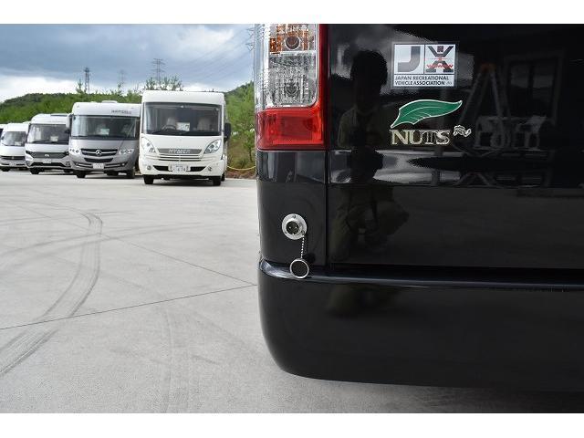 ナッツRV トライアル 4WD ツインサブ FFヒーター 400W、1500Wインバーター マックスファン ソーラーパネル 冷蔵庫 シンク 架装部TV 地デジアンテナ リアヒーター リアクーラー ミラー型モニター(60枚目)